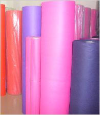 Colourful stock of non woven fabric